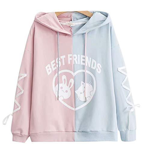 CRB Fashion Cosplay Anime Bunny Emo Girls Cat Bear Ears Emo Bear Top Shirt Pullover Sweater Hoodie (STYL #2)]()