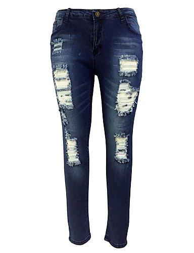 poliestere Elasticità amp;kuzi Jeans Da Elastene Pantaloni Donna Tt Cotone Sensuale Media n0qCvwqEd