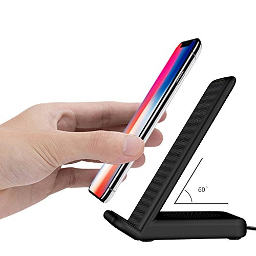 30%OFF Wireless Charger,iPhone X Wireless Charger, Fast Wireless Charging Pad Stand At Same Time With Multiple Outlets Connector With Type C/Micro USB/Lightning Cable to USB Charger (Black) (black)