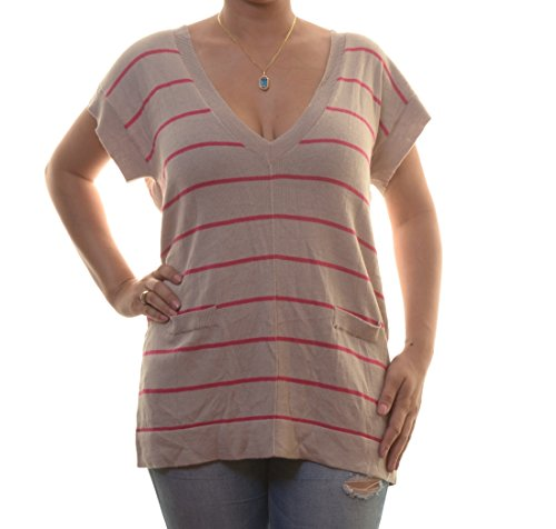 August Silk Women's Striped Pullover Size L ()