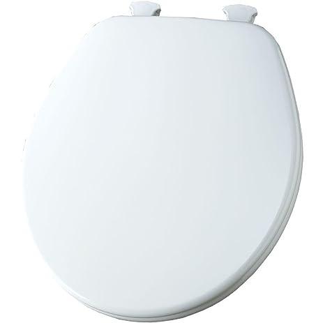 wooden white toilet seat. Church 540EC 000 Wood Toilet Seat with Cover  White Amazon com