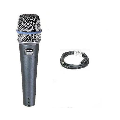 Shure Beta 57a Microphone + Whirlwind 20' XLR Cable by Shure