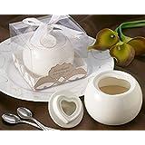 "Artisano Designs ""Sweetheart"" Porcelain Sugar Bowl"