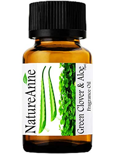 Green Clover & Aloe (Type) Premium Grade Fragrance Oil - 10ml - Scented Oil - for Diffuser Oils, Making Soap, Candles, Lotion, Home Scents, Linen Spray, Lotion, Perfume, Beard Oil, - Green Clover Aloe