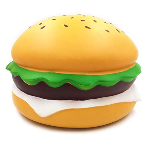 Jieson Jumbo Cute Hamburger Squishies Toy - Kawaii Cream Scented Squishies Very Slow Rising Kids Toys Doll GIF - Collection Stress Relief Toy Hop Props - Decorative Props Large -