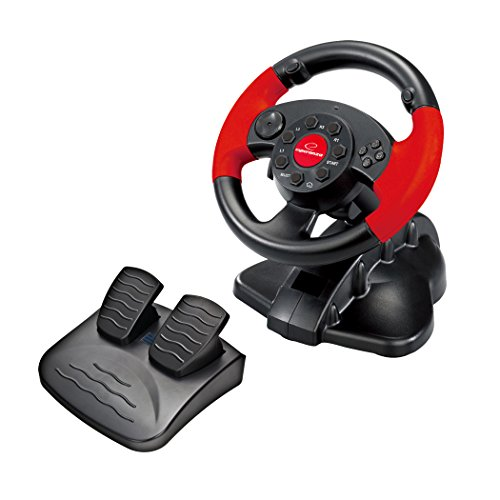 Esperanza Gaming Steering Wheel, Accelerator/Brake Pedal black