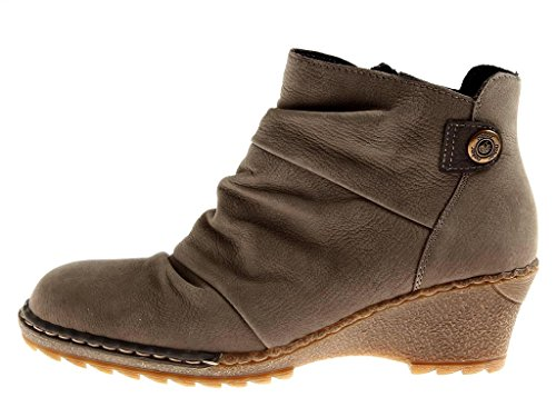 Lana Botines invierno de gris de para invierno mujer Rieker Zapatos Botines Zapatos Uv76qR6