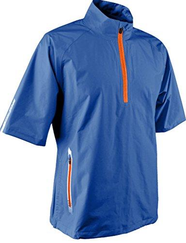 Sun Mountain Mens Cumulus Short Sleeve Rain Pullover Royal XL ()