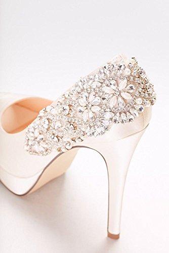 Davids Bridal Indulgence Peep Toe Pump Style P1710 Avorio