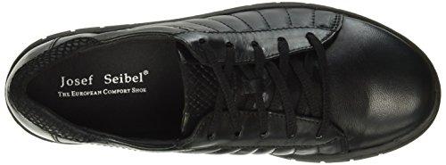 Josef Seibel Steffi 01, Zapatos de Cordones Derby para Mujer Negro - negro