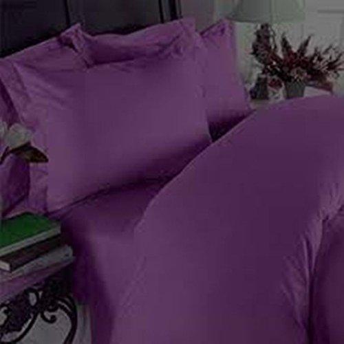 400tc Italian Finish Purple Solid 2pc Pillow Cases Standard