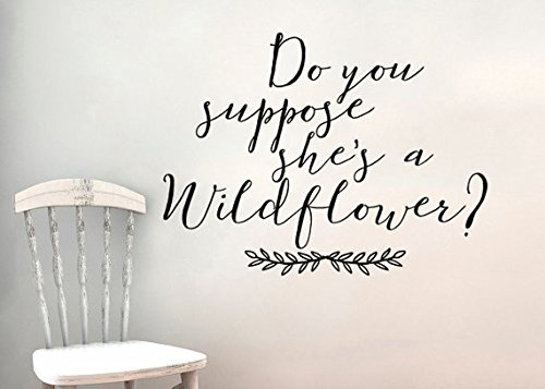 Do you suppose she's a wildflower wall sticker decal Alice in Wonderland Inspired (Wall Wildflower)