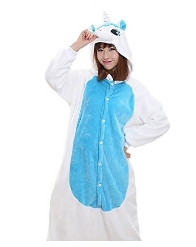 Unisex Adult Animal Oneise Kigurumi Pajamas Halloween Horse Cosplay Costume M B-Horse