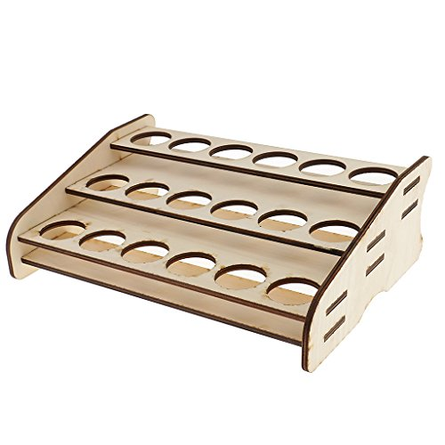 MonkeyJack Wooden Pigment Paint Bottles Rack Model Organizer Paint Brush Storage Holder
