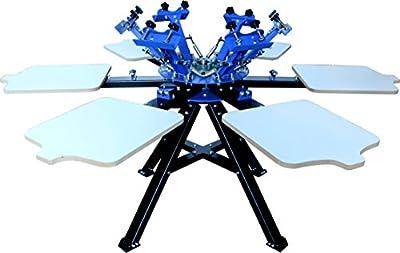 Techtongda Silk Screen Printing Press Machine Screen Printer T-shirt Heavy Duty DIY (6 Color 6 Station)