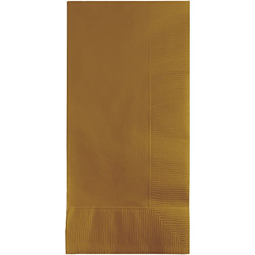 Creative Converting Touch of Color 100 Count 2-Ply Paper Dinner Napkins, Glittering Gold]()