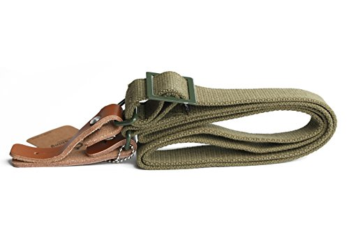 Sling Canvas (Cool Shiny Ak47 Style Heavy Duty Canvas/leather Rifle Sling)