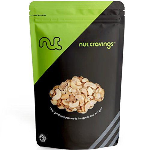 Nut Cravings - Raw Cashews Halves & Pieces - Fresh, Unsalted, Unroasted Cashews - SAMPLER SIZE
