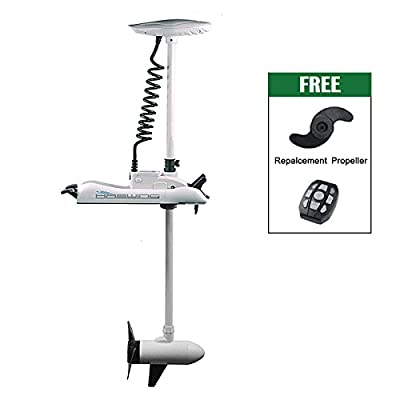 24V 80 lbs Bow Mount Trolling Motor Electric Trolling Motors with 60'' shaft White