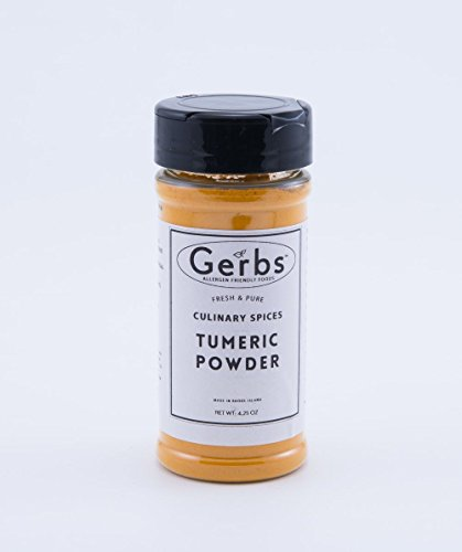 Turmeric Powder by Gerbs - 2 Pack (4.25 oz.) Shacker Jar - Top 12 Food Allergen Free - Gourmet Chef Grade by GERBS
