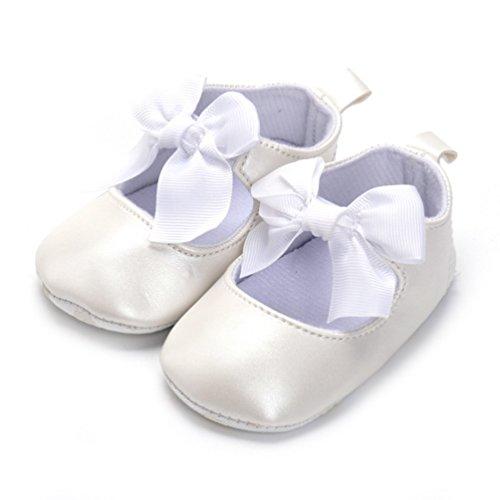 CHENGYANG Babyschuhe Bowknot Krabbelschuhe Baby Lauflernschuhe Neugeborene Schuhe Weiche Sohle Beige