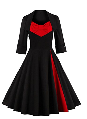Dear-Queen Modest Halloween Costumes 1950s Inspired Vintage Dress