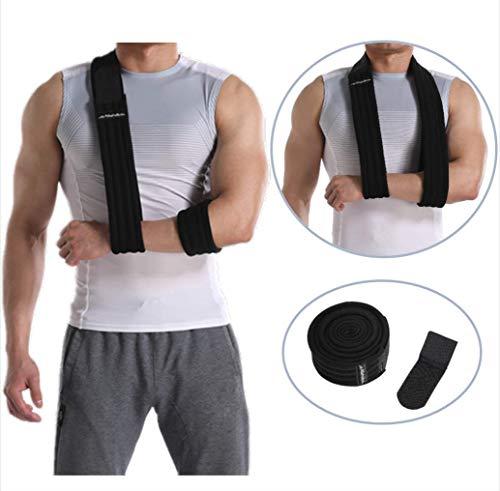Abahub Arm Sling Shoulder Immobilizer Support Brace, Adjustable Ergonomic Arm Sling Medical Support Strap for Arm