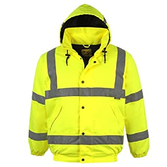 Personal Protective Equipment (PPE) 7XL S463 Portwest HI VIS Bomber Safety Work Jacket Coat Hood Workwear S