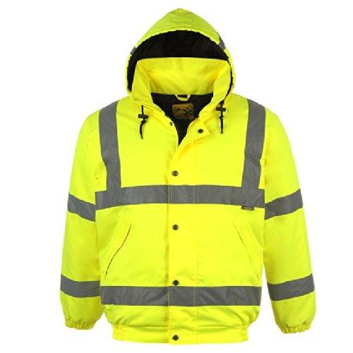 Dunlop para hombre reflectante de alta visibilidad chaqueta Bomber de seguridad reflectantes: Amazon.es: Ropa y accesorios