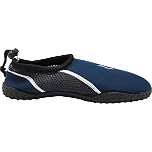 NORTY Young Mens Skeletoe Aqua Water Shoes For Pool Beach, Surf, Snorkeling, Exercise Slip On Sock, Navy, White 40207-8B(M) US