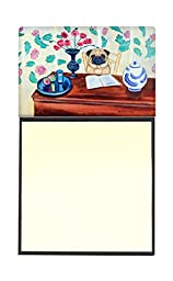 Caroline\'s Treasures 7253SN Pug Refillable Sticky Note Holder or Postit Note Dispenser, 3.25 by 5.5\