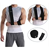 Abahub Arm Sling Shoulder Immobilizer Support Brace, Adjustable Ergonomic Arm Sling Medical Support Strap for Arm