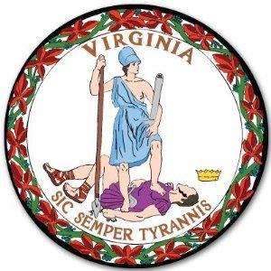 Virginia State Seal - Virginia State Seal Flag bumper sticker decal 4