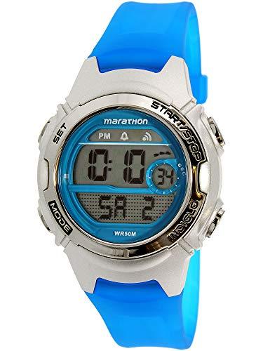 Timex Women's Marathon TW5K96900 Blue Rubber Analog Quartz Sport Watch