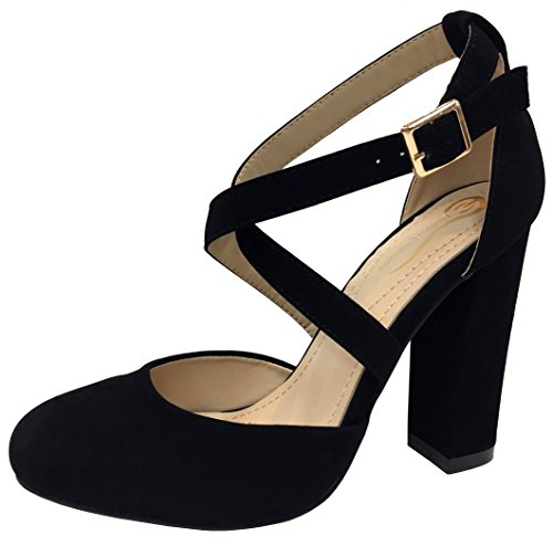 Strappy Elegant Jane Black Footwear Crisscross Mary Pump 45wwnSBZq