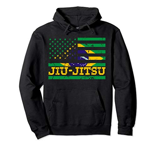 Brazilian Jiu Jitsu American Flag US Sports Hoodie