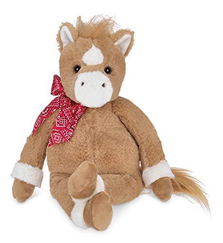 Bearington Charlie Plush Brown and White Horse Stuffed Animal, 16 inches -