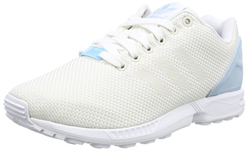 adidas Femme Flux ZX White Basses Sneakers Blue Weave Blanc wAZzCwU7qx