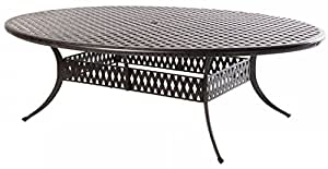 "Heritage Outdoor Living Nassau Cast Aluminum 70""x100"" Egg Table - Antique Bronze"