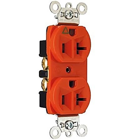 IG5362 PASS /& SEYMOUR OR HUBBELL ORANGE DUPLEX RECPTACLE