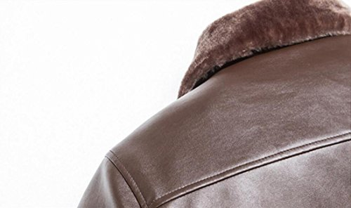 Moda Maschile Brown Colletto Alta Size Collare Di Giacca Qualità L Pelle Mandarino Plus In Marrone Mens Eq6w6xtA