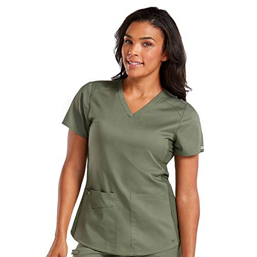 (Med Couture New Touch Women's V-Neck Shirttail Scrub Top)