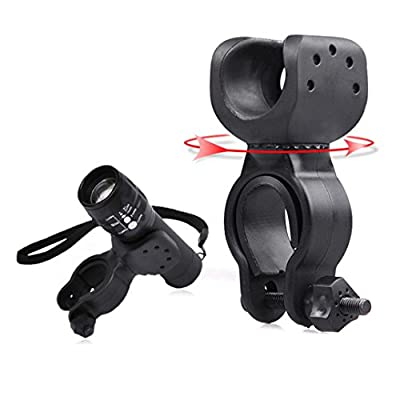 LandFox® Flashlight Holder,Torch Clip Mount Bicycle Front Light Bracket Flashlight Holder 360°Rotation
