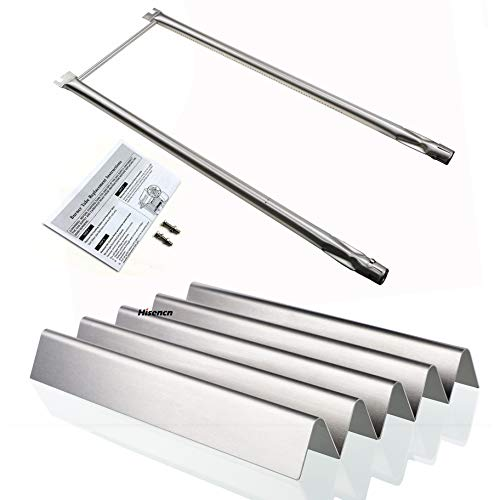 Hisencn Repair Kit Stainless Steel Burner Tube, Flavorizer bar Heat Plate Replacement for Weber Spirit 500 and Genesis Silver a Grills
