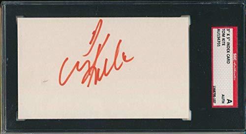 Tom Kite Autographed Photo - 1989 94 1992 US OPEN 3x5 Index Card SGC 143694 - Autographed Golf Photos ()