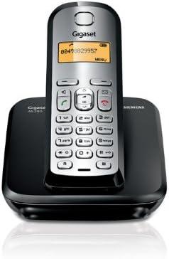Siemens Gigaset AS 290 - Teléfono fijo digital (inalámbrico, alarma, clip, lista de direcciones: 80), Negro y Plata: Amazon.es: Electrónica
