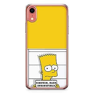 Loud Universe Bart Simpson Arrest iPhone XR Case The simpsons iPhone XR Cover with Transparent Edges