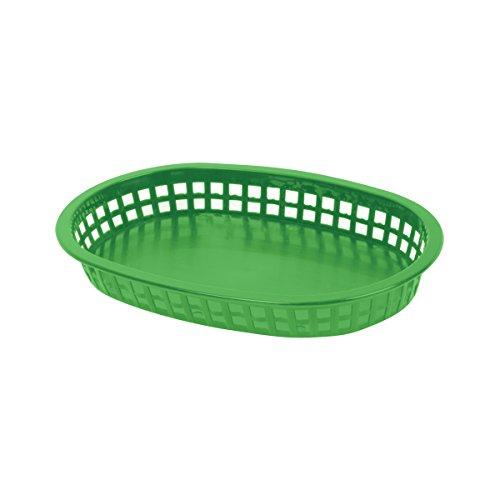 Excellanté 12 Piece 10 3/4'' Oblong Basket, Green by Excellanté