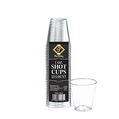 Posh Setting Plastic Shot Glasses 1oz Clear Hard Plastic Shot Glass, Tasting Cups 200 count