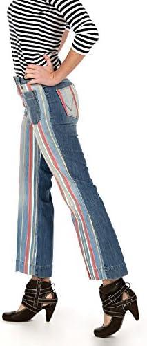 Wrangler - Jeans - Femme Bleu Disco Stripes 99Y